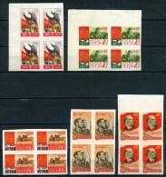 Russia USSR.1957  Set 10v/4block. ** MNH  REVOLUTION