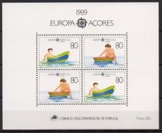 Açores - Bloc Feuillet - 1989 - Yvert N° BF 10 **  - Europa