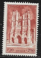 N° 665  FRANCE  -  NEUF -   CATHEDRALE AMIENS  AU PROFIT ENTRAIDE FRANCAISE  - 1944 - Neufs