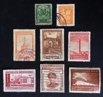 1927-1962 Coat Of Arms Y&T Nr.207 +433 +aerienne 76,79,84,98,150 +service 26 - Dominicaine (République)