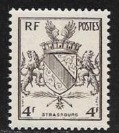 N° 735  FRANCE  -  NEUF -   ARMOIRIE LIBERATION STRASBOURG  - 1945