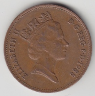 @Y@    2  Pence Groot Brittannië   1988    (3342) - 2 Pence & 2 New Pence