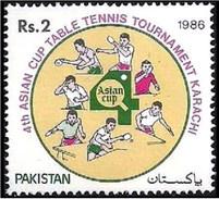 1986 Pakistan 4th Asian Cup Table Tennis Tournament Karachi (1v) MNH (PK-34)