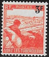 N° 750  FRANCE  -  NEUF -   AU PROFIT DES TUBERCULEUX SURCHARE 3 F / 2   - 1945 - Francia