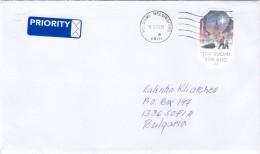 FIN-0111/2015 - 1. Klass - Christmas, Letter Ordinary+priority From Helsinki To Sofia/Bulgaria