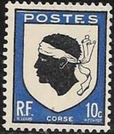 N° 755  FRANCE   -  NEUF  -  ARMOIERIE  CORSE  -  1946