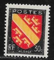 N° 756  FRANCE   -  NEUF  -  ARMOIERIE  ALSACE  -  1946