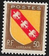 N° 757  FRANCE   -  NEUF  -  ARMOIERIE  LORRAINE  -  1946
