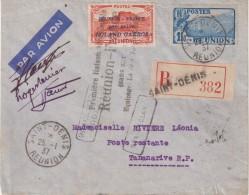 """REUNION : N° 1 . PA . AVEC COMPLEMENT . REC . POUR """" MADAGASCAR """" . SIGNEE DE L'EQUIPAGE . 1937 . - Reunion Island (1852-1975)"""
