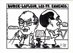 CPM NOUVELLE CALEDONIE BURCK LAFLEUR Franc-Maçon Les Frères Ennemis Masonic Tirage Limité LARDIE - Lardie