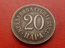Piece SERBIE - 20 Para 1883 - Serbie