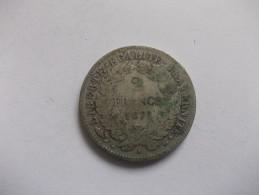 MONNAIE - 2 FRANCS CERES 1871 B Petit A - France