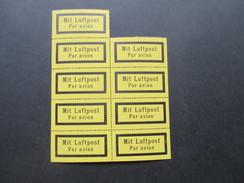 DR / 3. Reich Luftpost Aufkleber / Zettel 30er / 40er Jahre?! Ungebraucht Und Guter Zustand! 9er Einheit!! - Unused Stamps