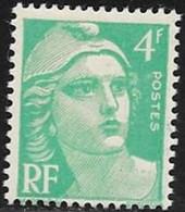 N° 807  FRANCE   -  NEUF  -  MARIANNE DE GANDON 4 F  -  1948