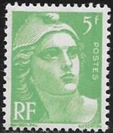N° 809  FRANCE   -  NEUF  -  MARIANNE DE GANDON  5 F  -  1948
