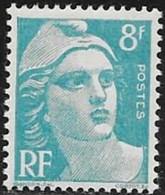 N° 810  FRANCE   -  NEUF  -  MARIANNE DE GANDON   8 F  -  1948