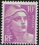 N° 811  FRANCE   -  NEUF  -  MARIANNE DE GANDON   10 F  -  1948