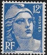 N° 812  FRANCE   -  NEUF  -  MARIANNE DE GANDON   12 F  -  1948