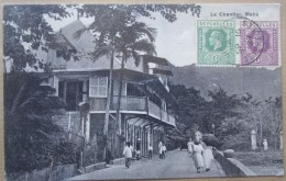 Seychelles Mahe Le Chantier  Cpa Timbrée Tampon Victoria 1927 - Seychellen