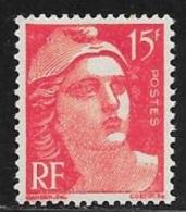 N° 813  FRANCE   -  NEUF  -  MARIANNE DE GANDON   15 F  -  1948