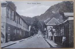 Seychelles Mahe Royal Street Cpa Timbrée Tampon Victoria 1927 - Seychellen
