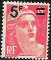 N° 827  FRANCE   -  NEUF  -  MARIANNE DE GANDON SURCHARE 5 / 6  -  1948
