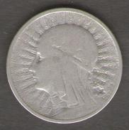 POLONIA 2 ZLOTES 1933 AG SILVER - Polonia