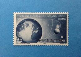 1956 ITALIA FRANCOBOLLO NUOVO ITALY STAMP NEW MNH** CONGRESSO ASTRONAUTICO INTERNAZIONALE - 1946-60: Mint/hinged
