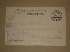 POW WW1 1915 Allemagne - Carte D'un Lieutenant Prisonnier De Guerre Camp De Stralsund Sur Carte Imprimé De Mainz - 1. Weltkrieg 1914-1918