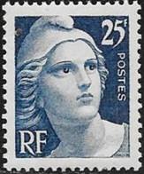 N° 823   FRANCE   -  NEUF  -  MARIANNE DE GANDON 25 F -  1949