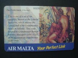 MALTA USED CARDS     2 SCAN  PAINTING - Malta