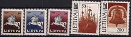 1991 Litauen Mi. 465-9**MNH   Litauischer Reiter Und Nationale Symbole