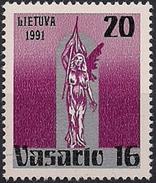 1991 Litauen Mi. 470**MNH   73. Jahrestag Der Gründung Der Republik.
