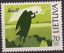 1991 Litauen Mi. 471**MNH  1 Jahr Unabhängigkeit