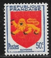 N° 835   FRANCE   -  NEUF  -  ARMOIRIE CAYENNE -  1949