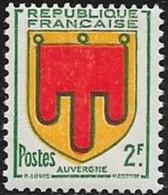 N° 837   FRANCE   -  NEUF  -  ARMOIRIE AUVERGNE -  1949