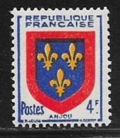 N° 838   FRANCE   -  NEUF  -  ARMOIRIE ANJOU -  1949