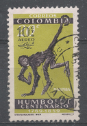 Colombia 1961. Scott #C413 (U) Spider Monkey, Overprinted * - Colombie