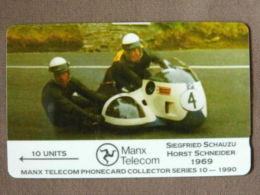 Isle Of Man - Man032,  Schauzu/Schneider, 6,000ex, 1990, Used