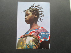 KA / Werbepostkarte 1961 Maggi Karte VIII Gabon. Jeune Fille Aux Bigoudis. Farbige Frau Mit Zöpfen. Gabonaise. . - Gabun