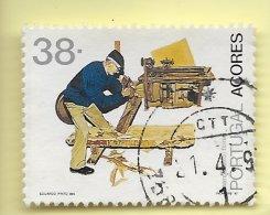 TIMBRES - STAMPS - PORTUGAL  (AÇORES) - 1992 - PROFESSIONS TYPIQUES - 3 Gr. - TIMBRE OBLITÉRÉ