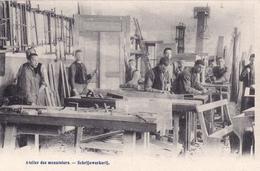 CPA BELGIQUE WOLUWE Par BRUXELLES Institut Royal Des Sourds-Muets Et Aveugles Atelier Menuiserie - Belgique