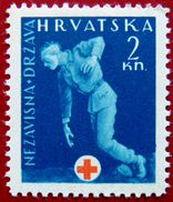 CROATIA 1943 2k Wounded Soldier MLH ScottRA2 CV$1 - Croatia