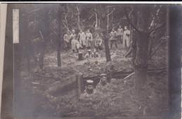 CP Photo 14-18 Secteur Cernay, Aspach-le-Bas, Le-haut, Burnhaupt... - Position Allemande En Forêt, Tranchée (A156, Ww1) - Guerre 1914-18