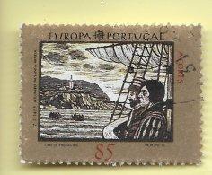 TIMBRES - STAMPS - PORTUGAL  (AÇORES) - 1992 - EUROPE - 5. CENTENAIRE DE LA DÉCOUVERTE DE L'AMÉRIQUE - TIMBRE OBLITÉRÉ