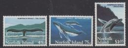 Norfolk Island 1995 Humpback Whales 3v  ** Mnh (33079) - Norfolk Eiland