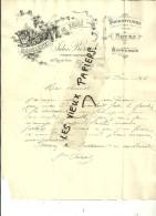 51 - Marne - REIMS - Facture BERARD - Biscuits - Pâtissier-confiseur – 1898 - REF 46B - 1900 – 1949