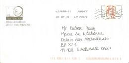 Enveloppe Illustrée Abbaye Fontfroide Aude Narbonne Toshiba 42089A-01 Marianne Ciappa