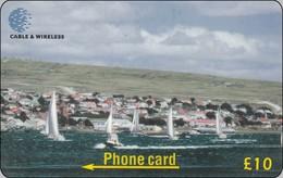 Falkland Phonecard  Yacht Race Departing Harbour