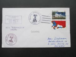 Marshallinseln 1978 Paquebot M.V. Eigamoiya Nauru. Official Number 1. Majuro. USPO. Toller Beleg!! - Marshallinseln